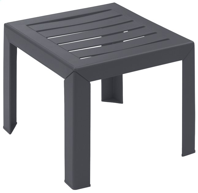 Image pour Grosfillex table basse Miami anthracite 40 x 40 cm à partir de ColliShop