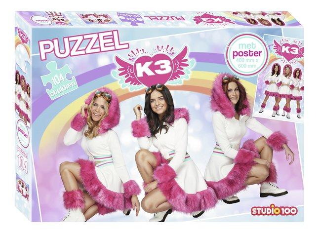Puzzel K3 Dromen met poster