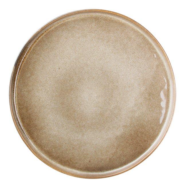 Ona 4 assiettes plates Element Ø 26,5 cm brun