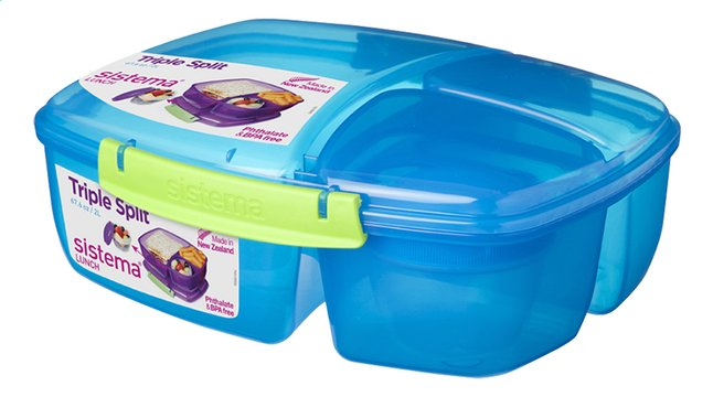 Afbeelding van Sistema lunchbox Trends Triple Split blauw from ColliShop