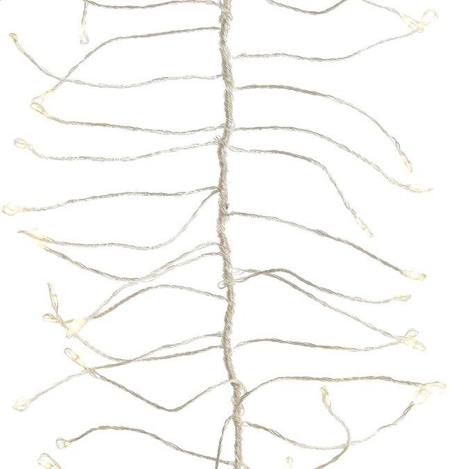 Guirlande lumineuse en grappe microLED 960 lampes blanc chaud