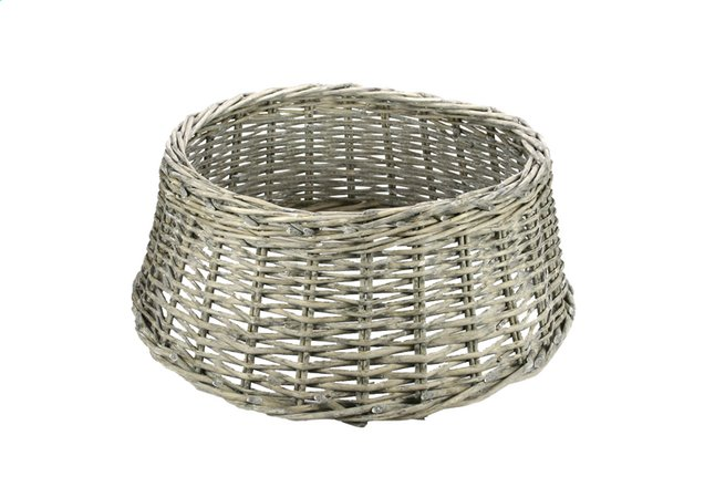 Image pour Panier cache-pied de sapin de Noël H 20 cm gris à partir de ColliShop