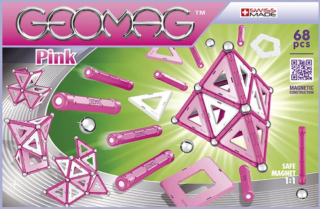 Afbeelding van Geomag Pink 68 stuks from ColliShop