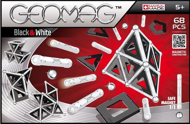 Image pour Geomag Black & White 68 pièces à partir de ColliShop