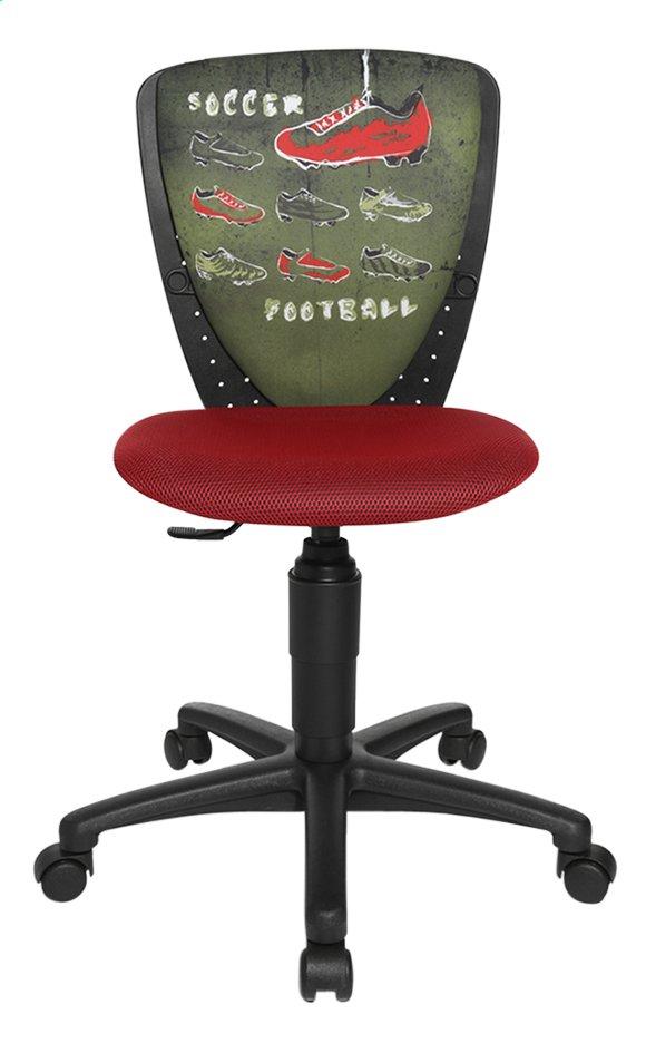 Topstar chaise de bureau pour enfants Nic foot rouge/vert