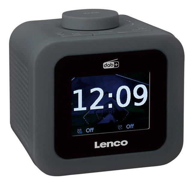 Lenco wekkerradio CR-620 DAB+/FM donkergrijs