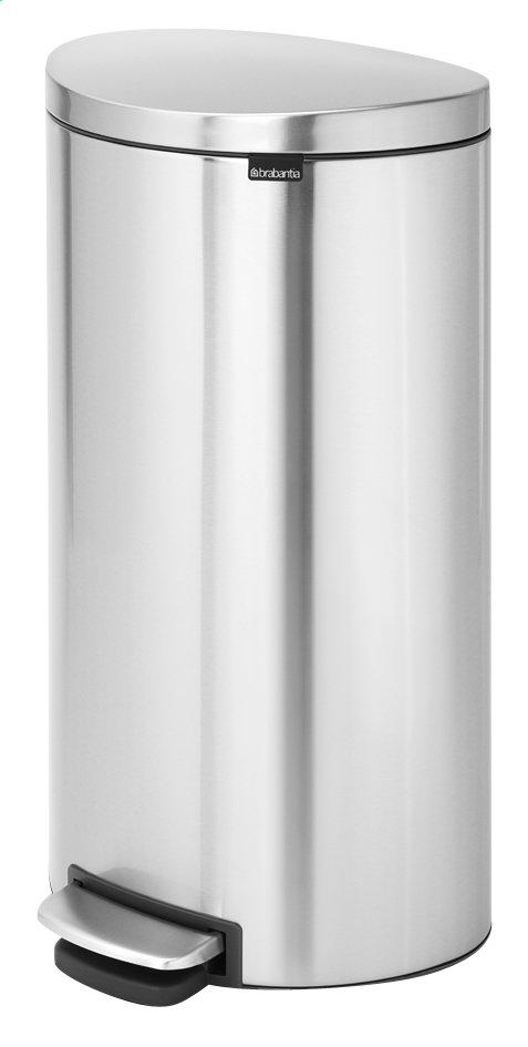 Image pour Brabantia poubelle à pédale FlatBack+ en acier mat FPP 30 l à partir de ColliShop