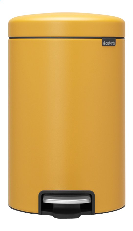 Afbeelding van Brabantia Pedaalemmer newIcon mineral mustard yellow 12 l from ColliShop