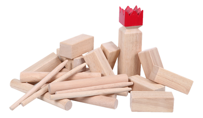 Afbeelding van Viking Kubb Premium Rubberwood from ColliShop