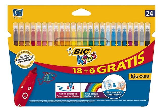 Image pour Bic Kids feutre Kid Couleur - 24 pièces à partir de ColliShop