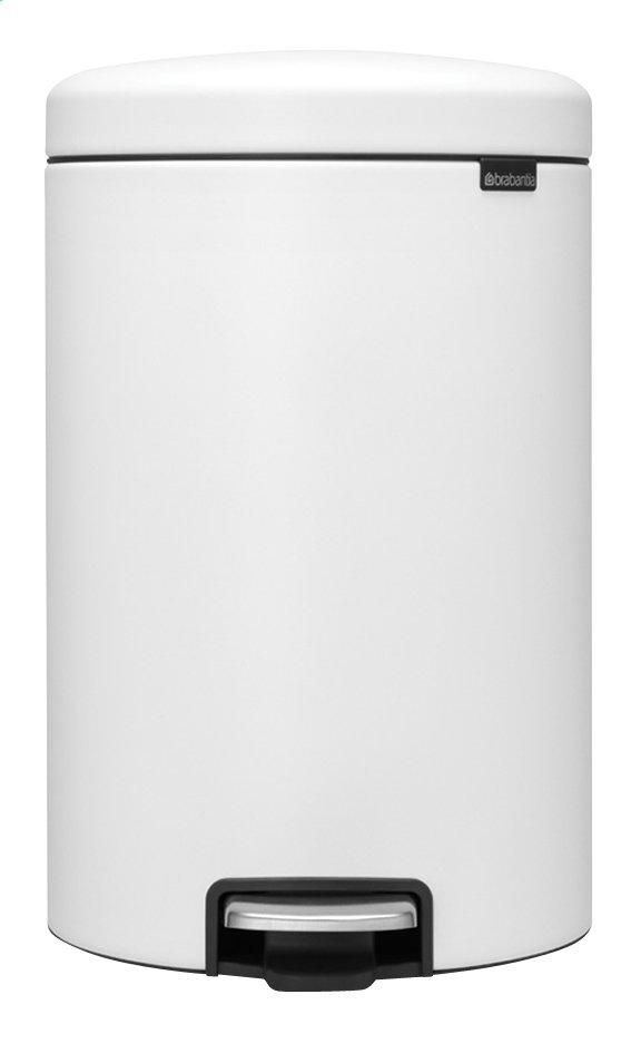 Brabantia Pedaalemmer 20l.Brabantia Pedaalemmer Newicon Mineral Eternal White 20 L Collishop
