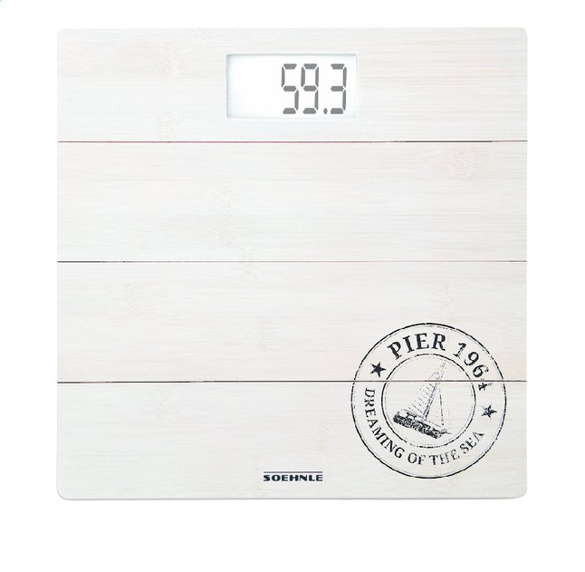 Afbeelding van Soehnle Personenweegschaal Bamboo white PWD 63845 wit from ColliShop