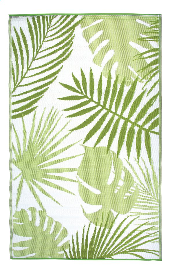Esschert Design Tapis De Jardin Jungle Leaves Blanc Vert Pas Cher