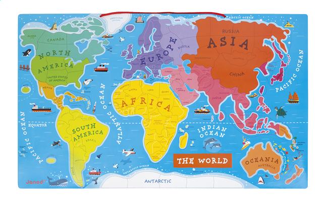 Image pour Tableau magnétique carte du monde ANG à partir de ColliShop