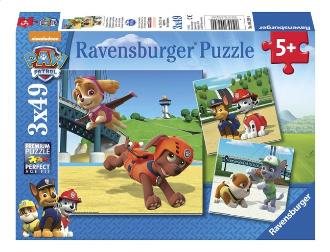 Afbeelding van Ravensburger Puzzel 3-in-1 PAW Patrol Team op 4 poten from ColliShop