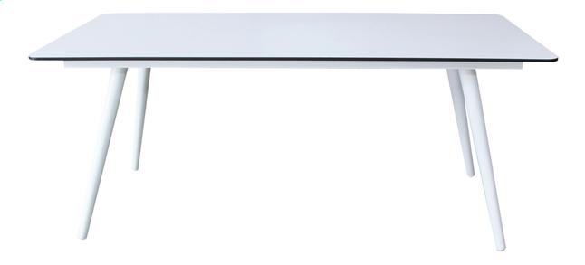 Image pour Table de jardin Mimosa blanc L 180 x Lg 90 cm à partir de ColliShop