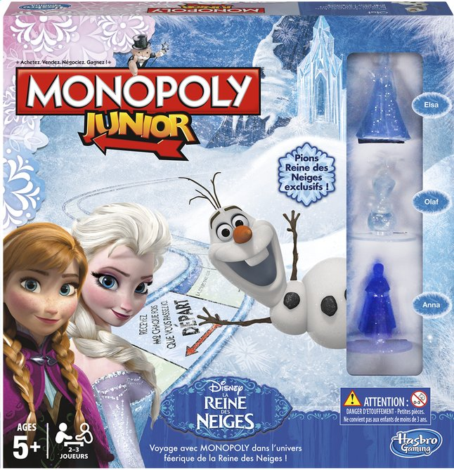 Image pour Monopoly Junior Disney La Reine des Neiges à partir de ColliShop