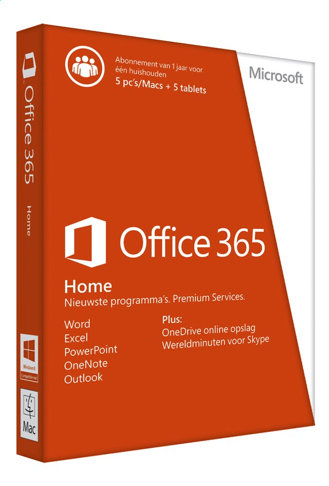 Afbeelding van Microsoft Office 365 Home NL from ColliShop