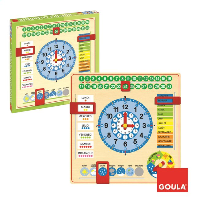 Image pour Goula Horloge calendrier à partir de ColliShop