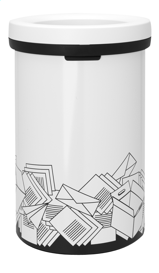 Afbeelding van Brabantia Afvalemmer Open Top wit 60 l papier from ColliShop
