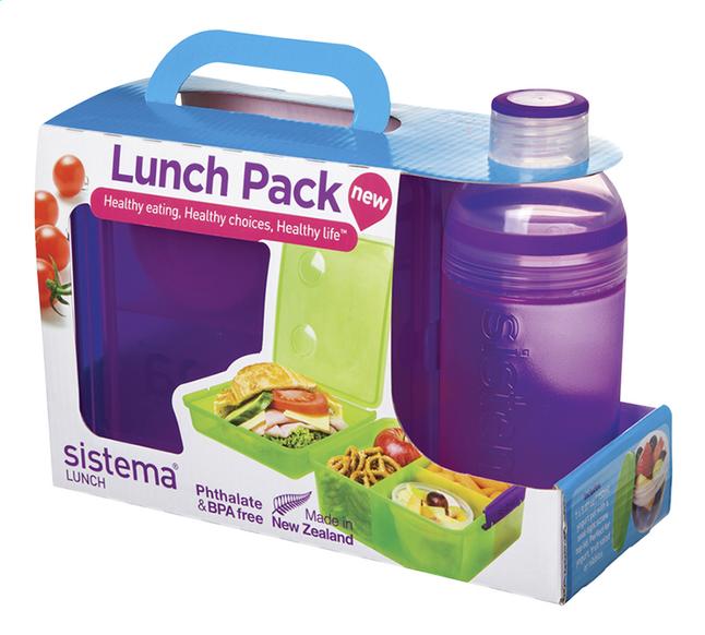 Afbeelding van Sistema brooddoos en drinkfles 480 ml Lunch Pack paars from ColliShop