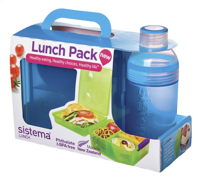 Afbeelding van Sistema brooddoos en drinkfles 480 ml Lunch Pack blauw from ColliShop