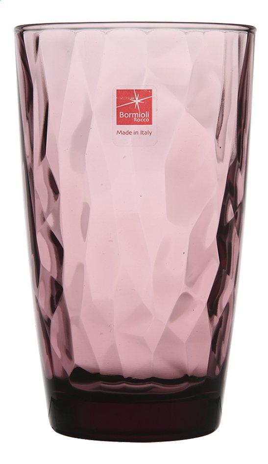 Afbeelding van Bormioli Rocco 6 waterglazen Diamond Tumbler 47 cl paars from ColliShop