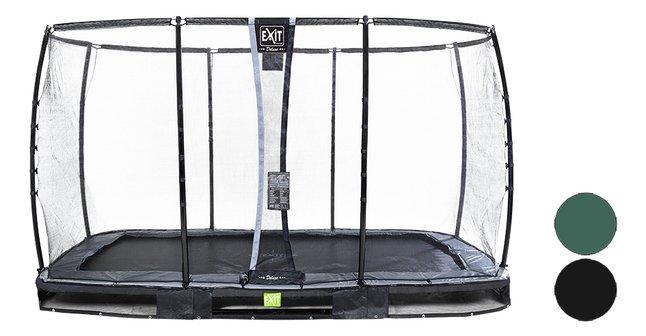 Image pour EXIT trampoline enterré avec filet de sécurité Elegant Ground Premium Deluxe L 3,66 x Lg 2,14 m à partir de ColliShop