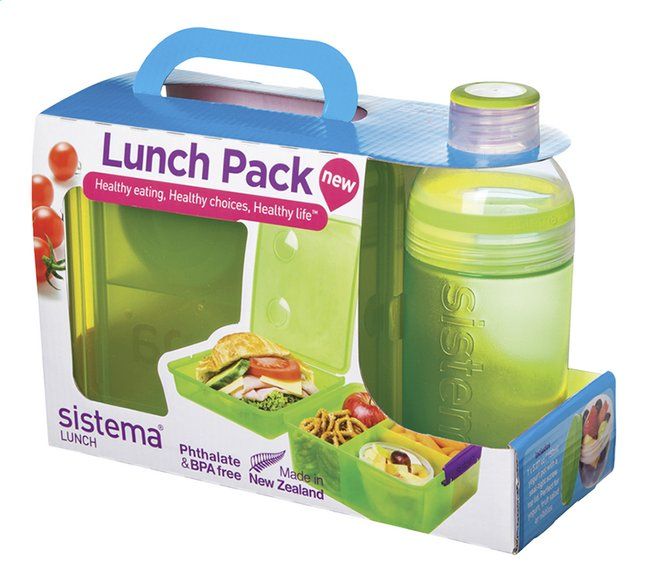 Afbeelding van Sistema brooddoos en drinkfles 480 ml Lunch Pack groen from ColliShop
