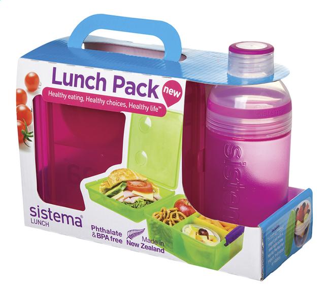 Sistema boîte à tartines et gourde Lunch Pack 480 ml rose