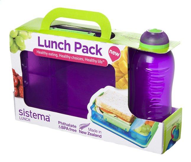 Afbeelding van Sistema brooddoos en drinkfles 330 ml Lunch Pack paars from ColliShop