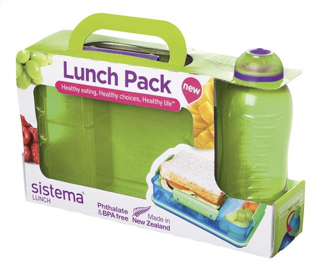 Afbeelding van Sistema brooddoos en drinkfles 330 ml Lunch Pack groen from ColliShop