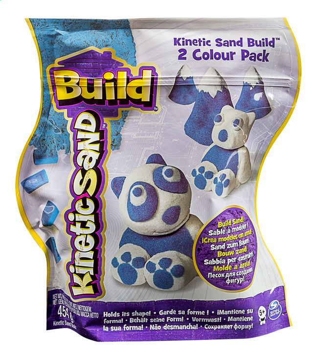 Image pour Spin Master Kinetic Sand Build 2 Colour Pack blanc/bleu à partir de ColliShop