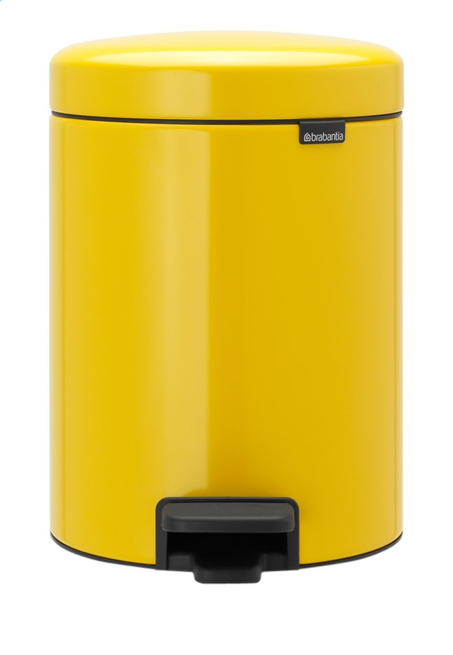 Afbeelding van Brabantia Pedaalemmer NewIcon Daisy Yellow 5 l from ColliShop