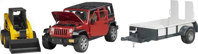 Image pour Bruder jeep Wrangler + remorque et pelleteuse à partir de ColliShop