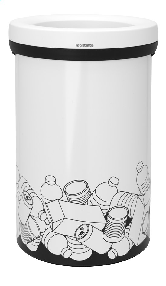 Afbeelding van Brabantia Afvalemmer Open Top wit 60 l pmd from ColliShop