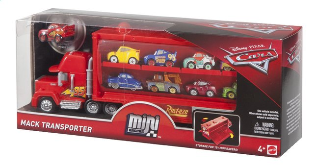 Afbeelding van Mini Racers speelset Disney Cars Mack Transporter from ColliShop