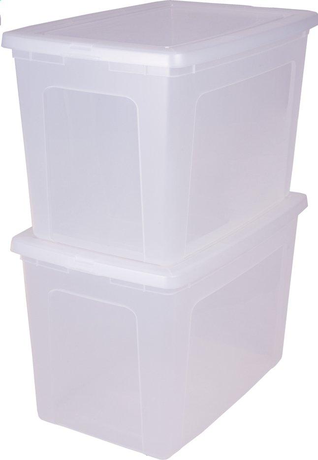 Image pour Iris Boîte de rangement blanc 70 l - 2 pièces à partir de ColliShop