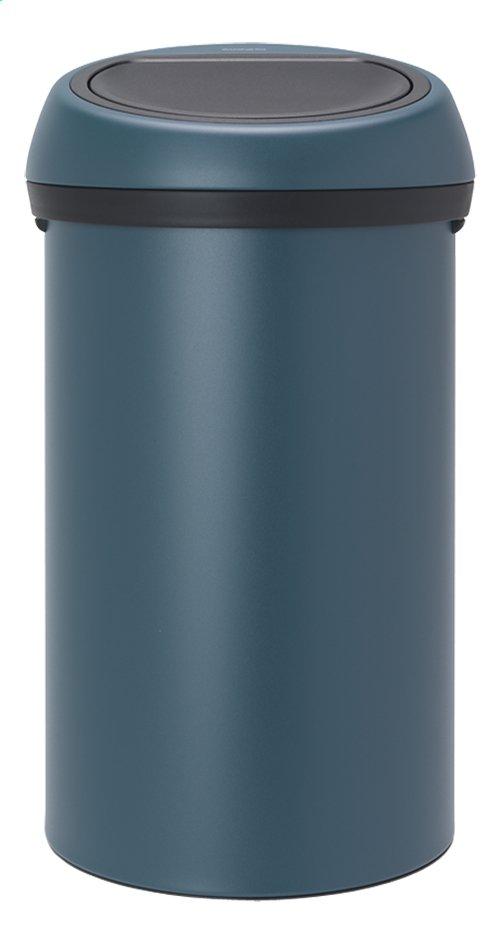 Brabantia poubelle touch bin mineral reflective blue 60 l collishop - Poubelle brabantia 50 l ...