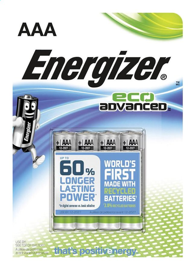 Image pour Energizer 4 piles AAA Eco Advanced à partir de ColliShop