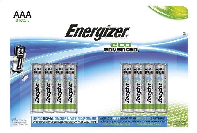 Image pour Energizer 8 piles AAA Eco Advanced à partir de ColliShop