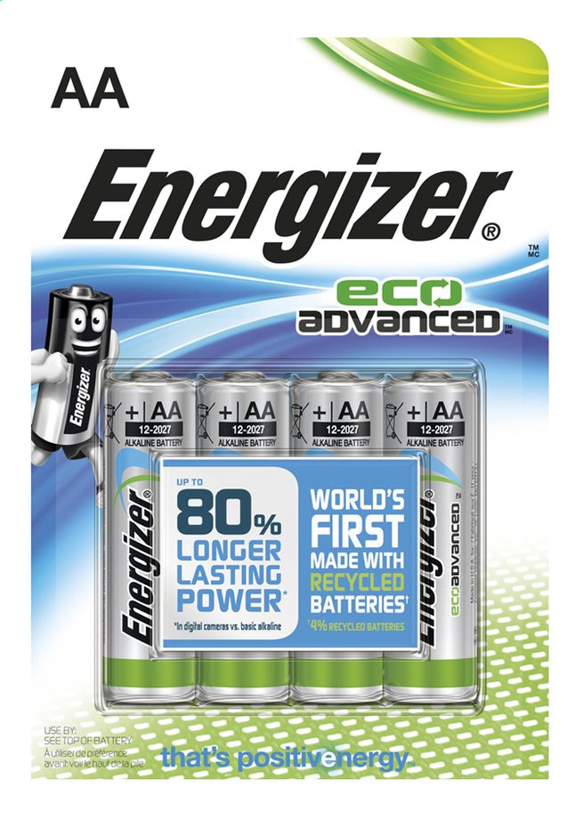 Image pour Energizer 4 piles AA Eco Advanced à partir de ColliShop