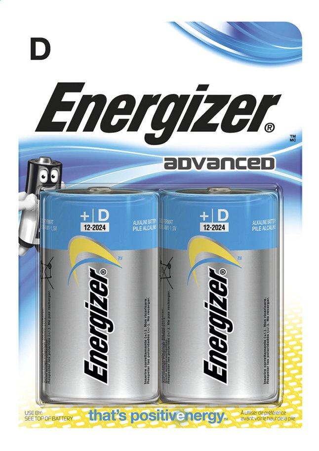 Image pour Energizer 2 piles D Advanced à partir de ColliShop