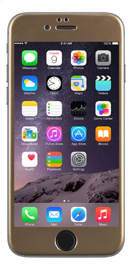 Afbeelding van bigben screen protector tempered glass voor iPhone 6 goud from ColliShop