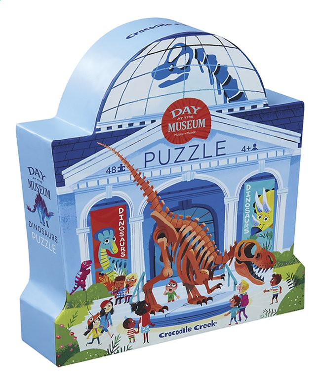 Crocodile Creek puzzel Day at the Museum Dinosaurs