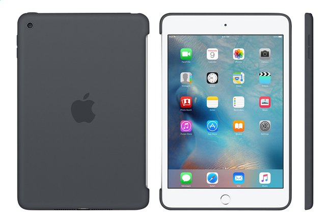 Afbeelding van Apple cover voor iPad Mini 4 silicone grijs from ColliShop