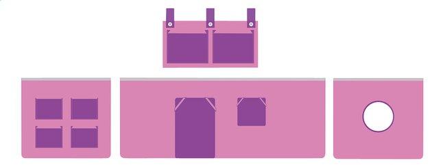 Afbeelding van Speelgordijn Pino roze/lila from ColliShop