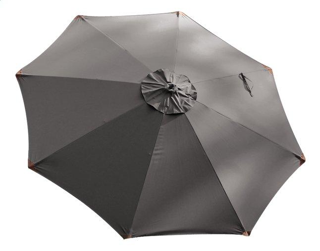 Image pour Parasol de luxe en bois FSC diamètre 3,5 m gris à partir de ColliShop