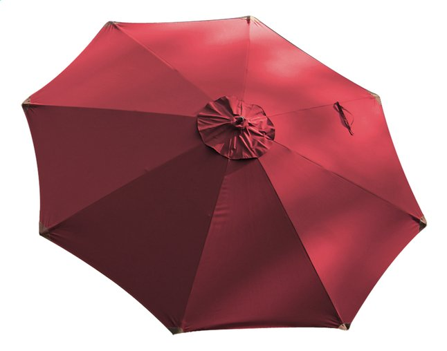 Afbeelding van FSC-luxehoutmastparasol diameter 3,5 m bordeaux from ColliShop