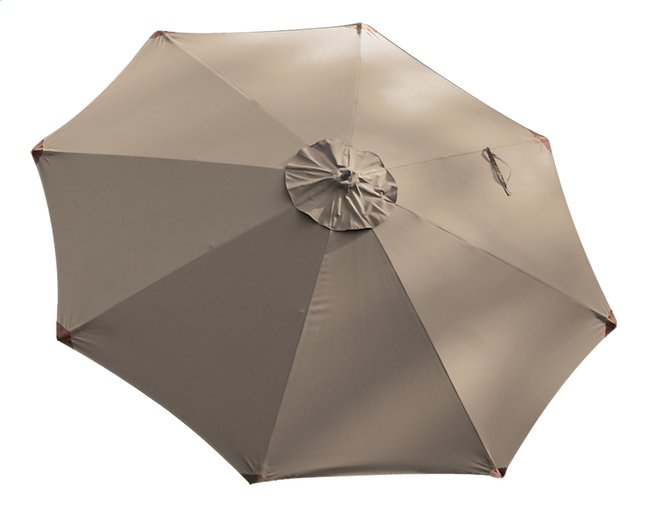 Afbeelding van FSC-luxehoutmastparasol diameter 3 m taupe from ColliShop